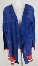 Tommy Hilfiger Sail Away Blue Red Stripes Cardigan/Jacket Wrap Womens 1X (D27)