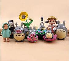 New 9pcs / set studio Ghibli Neighbor Totoro Spirited Away no face Mini figures