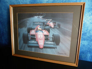 Arthur Benjamins NIGEL MANSELL FERRARI MOTOR RACING PRINT - 1986 FORMULA 1 ART
