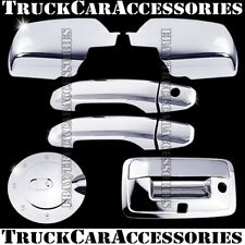 For CHEVY Silverado 2500/3500+HD 2014 Chrome Covers Mirrors+2 Doors+Gas+Tailgate