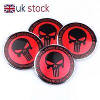 4x Skull 56mm Car Tyre Wheel Center Hub Caps Stickers Emblem Badge Decal #H10