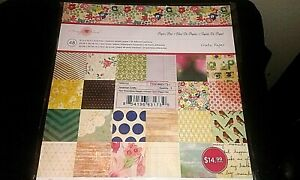 Crate Paper (Maggie Holmes) 12x12 Paper Pad - 48 Sheets MEDIUM WEIGHT CARDSTOCK