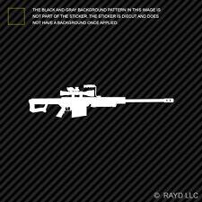 (2x) Barrett M107 Sticker Decal Die Cut sniper rifle 50 cal