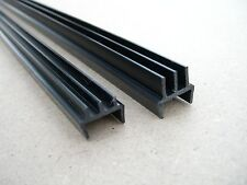 CLIP ON 4mm GLASS TRACK RUNNERS for 4ft wide VIVARIUM to fit 18mm thick wood