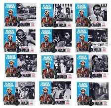 BLACK CAESAR/PARRAIN HARLEM/SET 12 LOBBY CARDS/F.WILLIAMSON/BLAXPLOITATION/BROWN