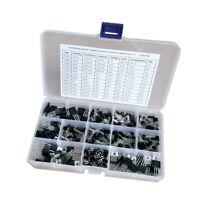 Lot de 370 boîtes de kit d'assortiment de transistors de puissance encapsulés