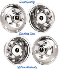 "16"" HINO FA 6 LUG WHEEL SIMULATOR RIM LINERS, STAINLESS HUBCAP COVERS SET 4 ©"