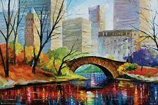 CENTRAL PARK - LEONID AFREMOV ART POSTER - 24x36 NEW YORK CITY NYC 11585