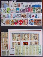 Germany Complete Year 1982 Stamp Set with ATMs C/Ds & Singles MNH German Stamps