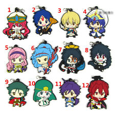 T713 Anime Magi The Labyrinth of Magic Rubber Keychain Key Ring straps cosplay