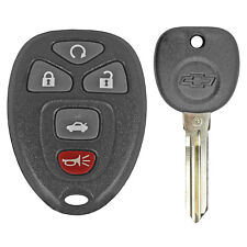 Oem Factory Gm Remote Start Keyless Entry Fob + Logo Ignition Key 22733524