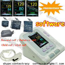 Digital Arm Sphygmomanometer Blood Pressure Automatic Monitor HeaAt Beat,Spo2,SW
