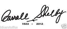 CARROLL SHELBY SIGNATURE STICKER WITH CLEAR BACKGROUND LAPTOP STICKER BUMPER