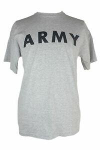 T Shirt US Army PT Heather Grey S-XL NEW Dark Grey Print Army A Symbol on Back