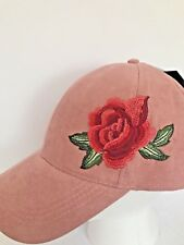NWT David & Young Soft Embroidered Rose Hat $25