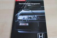 123962) Honda - Modellprogramm - Prospekt 1991
