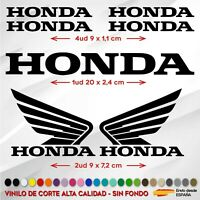 KIT 7X PEGATINA HONDA ALAS MOTO RACING VINILO STICKER BIKE COCHE MOTO COLORES