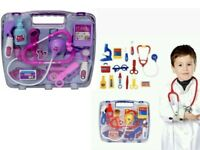 Gift Kids Children' Doctor Nurses Toy Medical Set Role Play  Kit Hard Carry Case