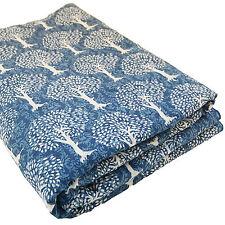 Indigo Tree Of Life Hand Block Printed Cotton Fabric 5 yard indian Anokhi Design