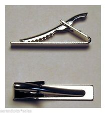 "48 TIE BAR Findings SILVER Flat Gluable Surface 1.6"" long x .3"" wide~Strong CLIP"