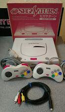 Japanese White Sega Saturn Mk2 Boxed Region Free with 2 Controllers - 240v PSU