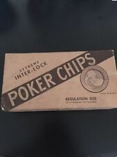 Vintage Box Styrene Inter-lock Poker Chips