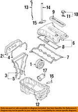 KIA OEM 98-01 Sephia Engine Parts-Timing Cover Gasket 0K24710502