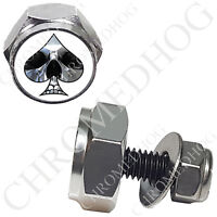 13 SPADE PINSTRIPE Polished Billet Hex Air Cleaner Cover Bolt Twin Cam Touring