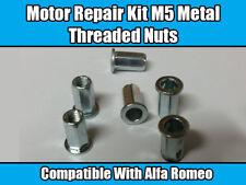 MOTORE 5x Kit di riparazione per la protezione antincastro ALFA ROMEO RIVETTO IN METALLO filetto M5