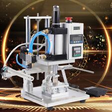 110v 60hz Hot Foil Stamping Machine Air Pneumatic 8x10cm Leather Pvc Logo Press