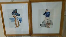 Pair Of Original Sidney Horne Shepard  Watercolours Of a Nude Lady