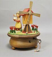 Vintage Thorens Anari Wooden Music Box Tip Toe Through the Tulips