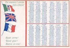 0405) WW1, BUON ANNO, CALENDARIO 1918 E BANDIERE