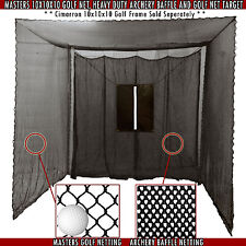Cimarron Sports Golf Cage Net 10'x10'x10' with Target & Baffle CM-MAS10GN - NEW