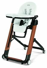 Peg Perego Siesta Ambiance Compact Fold Kids Highchair Recliner Brown NEW