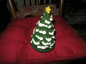 Hallmark Votive Holder Christmas Tree W/ Bird GREAT for Tea Light Candle