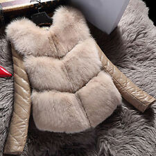 women fox sheep fur collar coats leather cotton jacket overcoat Removable sleeve