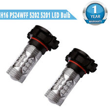2x 8000K Blue LED H16 Bulbs 12V-24V 5201 5202 High Power 80W Fog Lights DRL