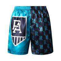 Port Adelaide Power AFL AF8470 Mens Team Logo Printed Satin Boxer Shorts New