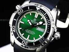 New Deep Blue 45mm Pro Aqua Automatic Sapphire Crystal 1500M Green Dial SS Watch