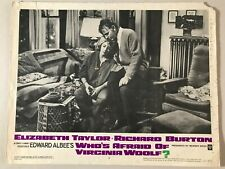 Original Lobby Card 11x14: Who's Afraid of Virginia Woolf? 1966 Elizabeth Taylor