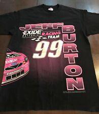 Large JEFF BURTON Racing Team T-Shirt Exide Batteries