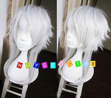 Dramatical Murder Aoba Segaraki Mixed Blue and White 2 colors Anime Cosplay wig