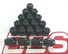 REAL BBS LOGO BLACK ACORN LUG NUTS {20} 12X1.25 FOR SUBARU & OTHERS