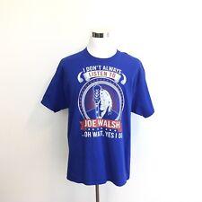 Joe Walsh Xl T Shirt I Don't Always Listen To Joe Walsh Oh Wait Yes I Do Men Xl