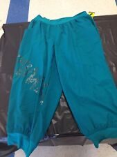 Women's Capri Pants License Zumba Apparel Teal Green XL