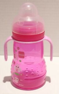 MAM Trainer Cup with Removable Handles - 8oz Pink Butterfly *No Packaging*