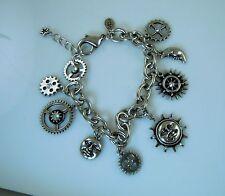 Kirks Folly Gears of Glory Steampunk Charm Bracelet
