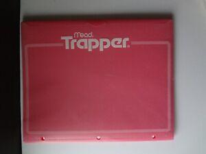 Trapper Keeper Portfolio Folder Pink with White Clear Front Pocket Binder Holes