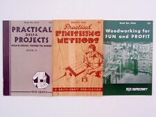 Deltagram Magazine, 3 Project Booklets, Woodworking, Toy Shot Gun Plans